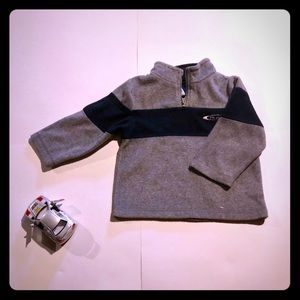 Children's place gray and blue fleece pull over